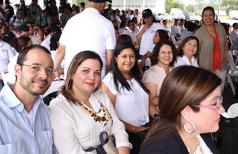 Directora de Relaciones Institucionales de AGEXPORT, Fanny D. Estrada participó en el acto de inauguración de la Unión Aduanera entre Guatemala y Honduras. Fotografía Cortesía: Ministerio de Economía de Guatemala