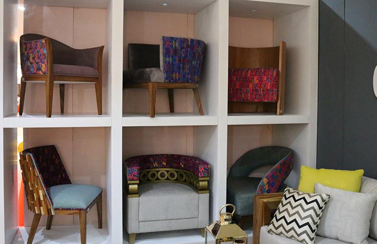 Muebles únicos elaborados en maderas certificadas y con textiles guatemaltecos podrá encontrarlos en Expomueble 2017.