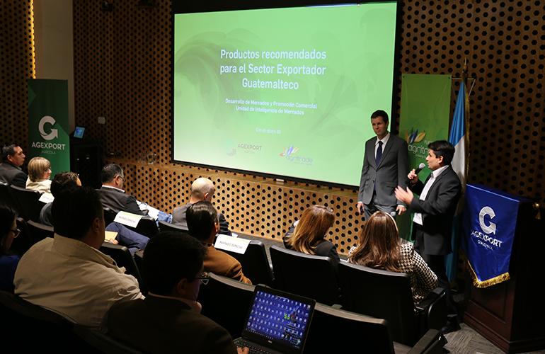 """El estudio """"Productos recomendados para el Sector Exportador Guatemalteco"""", es una   investigación realizada por el Departamento de Desarrollo de Mercados y Promoción Comercial por medio de su Unidad de Inteligencia de Mercados de AGEXPORT, el Sector agrícola y la Plataforma AGRITRADE."""