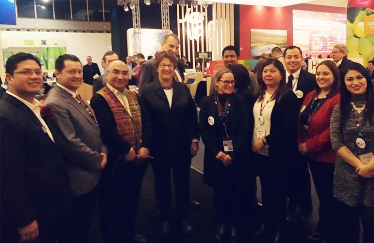 Delegación guatemalteca de empresarios exportadores junto con la Ministra de Economía de Alemania, Brigitte Zypries