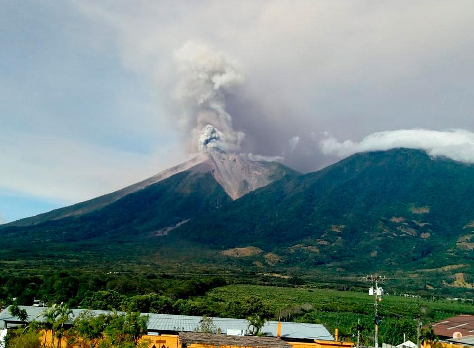 emergencia ante erupción del Volcán de Fuego