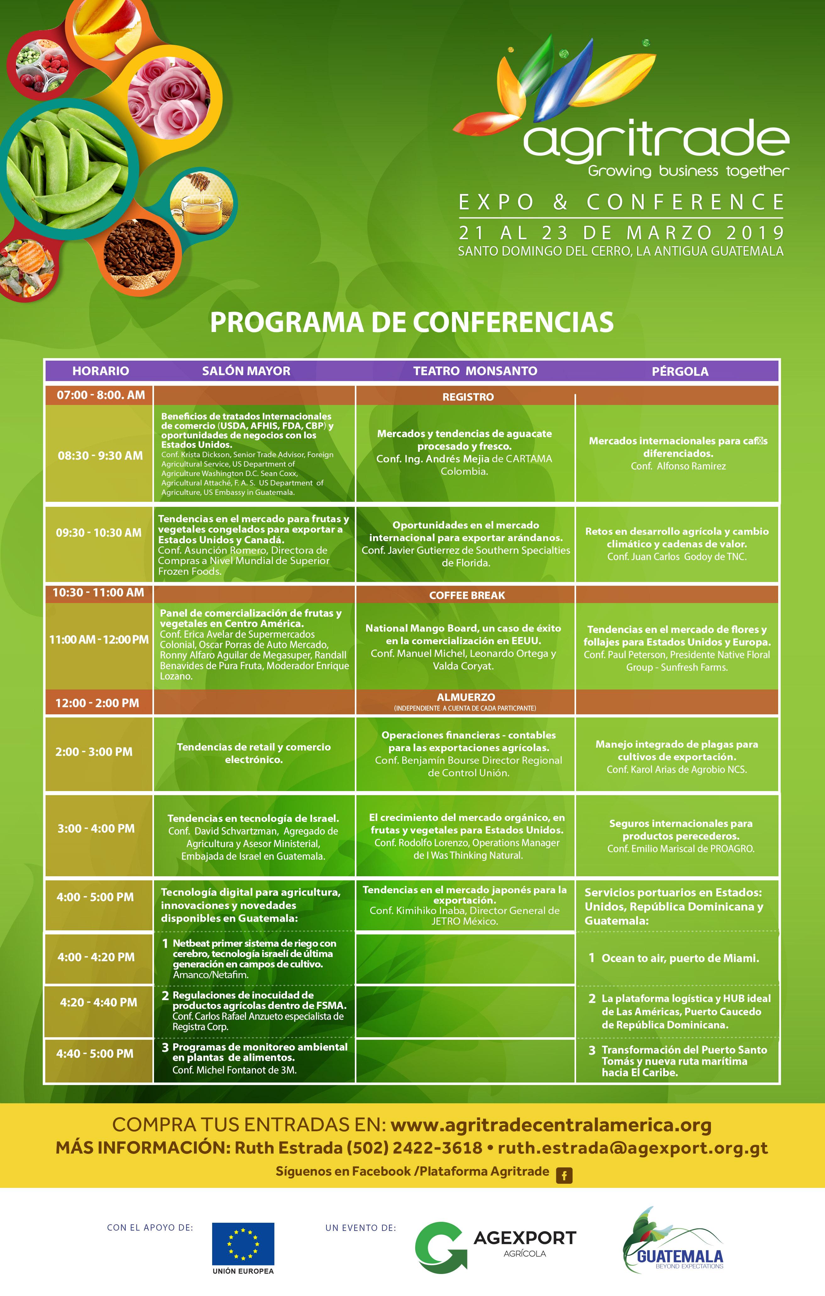 conferencia para productores agrícolas