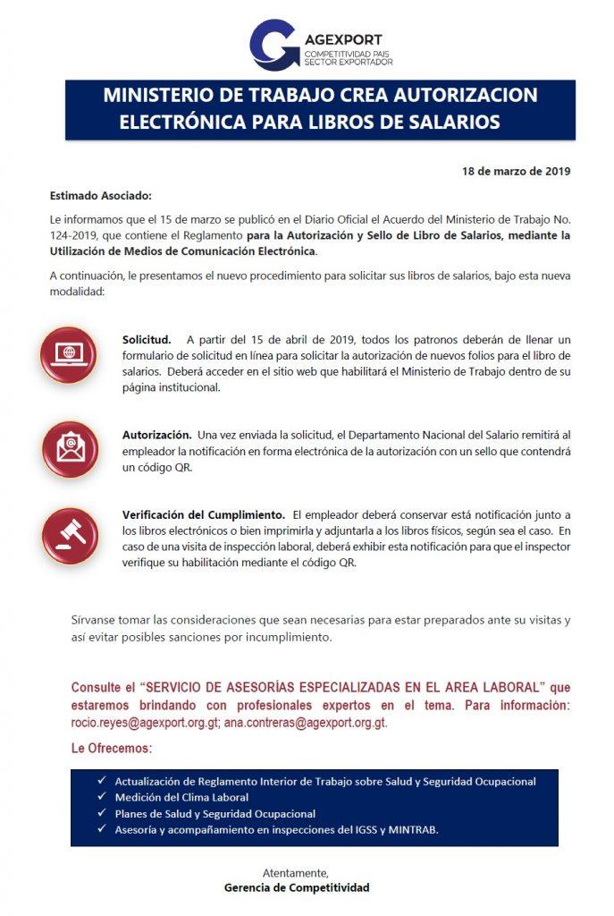 resoluciones de planillas de salarios en Guatemala