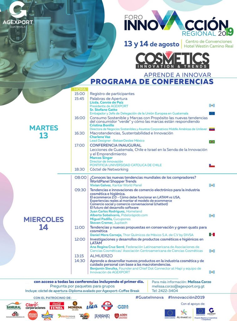 Guatemala, exporta cosméticos