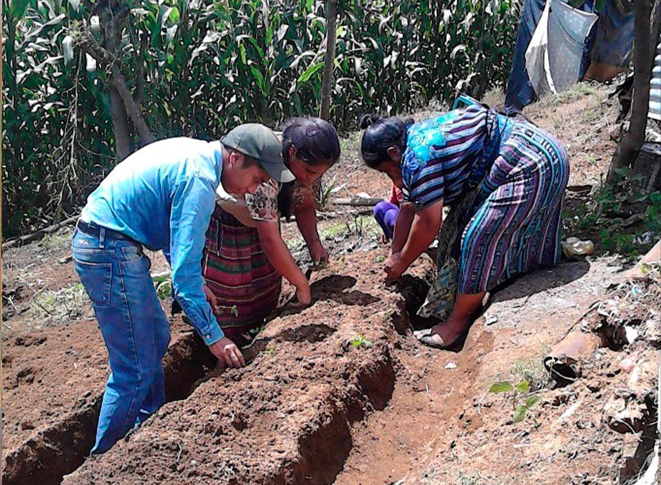 huertos familiares en Guatemala