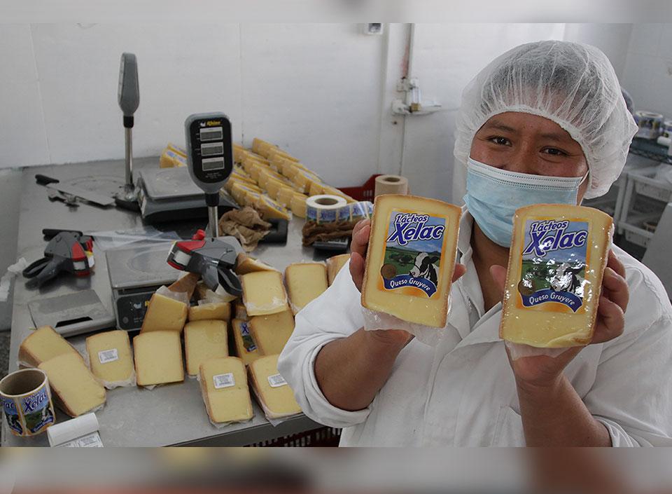 Cooperativa de quesos en Guatemala