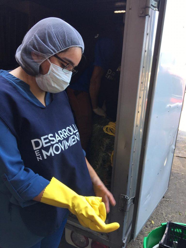donación de arvejas y vegetales en Guatemala