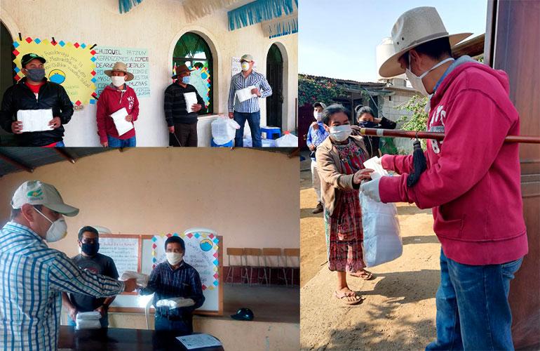 El Comité de Arveja y Vegetales de AGEXPORT entregó el primer lote de 5,000 mascarillas a familias de Patzún en Chimaltenango.