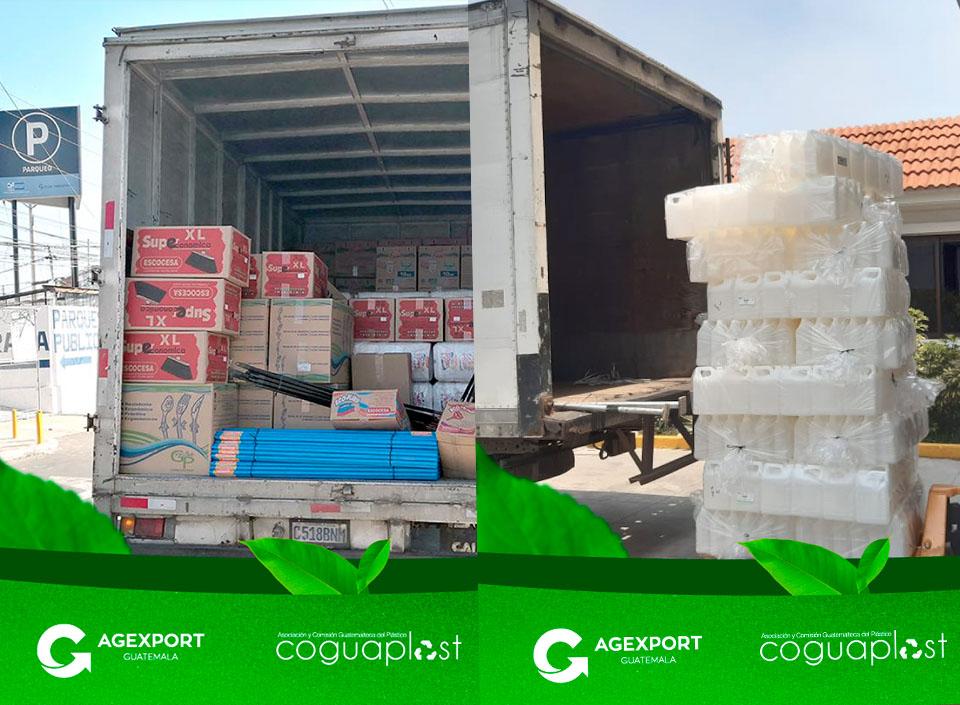 donación de plásticos por COVID-19