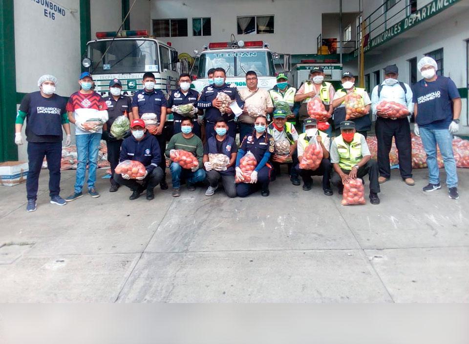 bomberos reciben donación de FUNDARVEJA