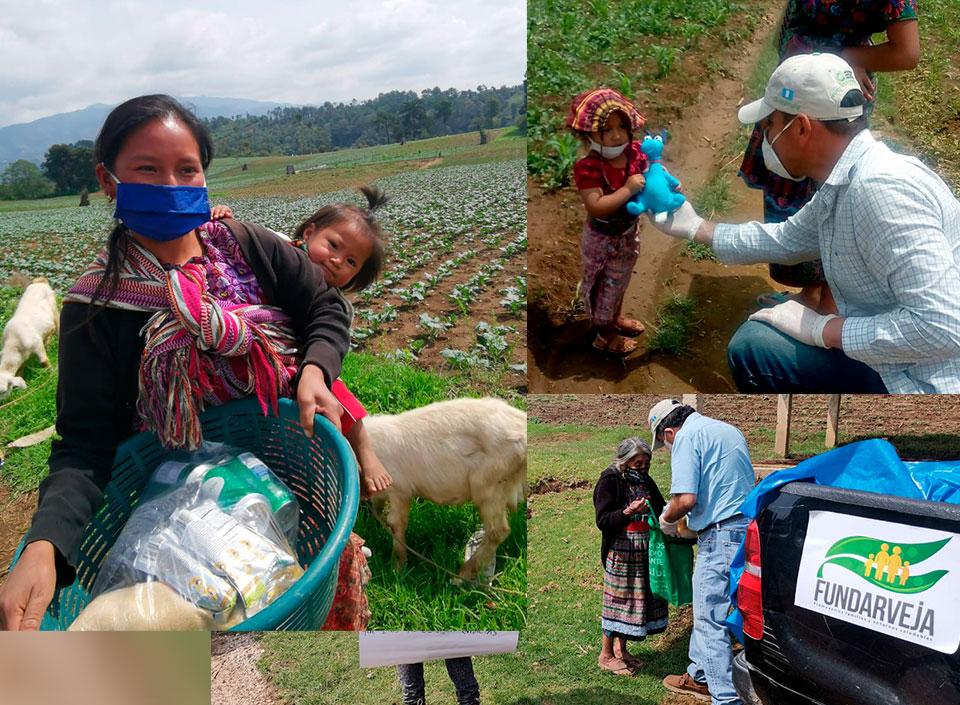 Familias rurales reciben ayuda por COVID-19
