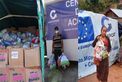 El Sector Exportador otorgó apoyo a más de 4 mil personas durante las tormentas IOTA y ETA
