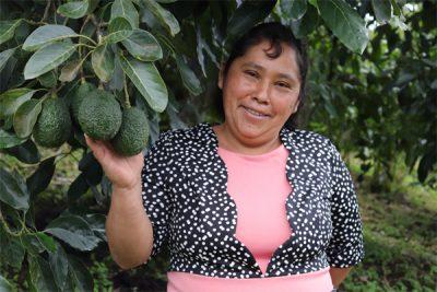 Una agricultora de aguacates que sueña con exportar